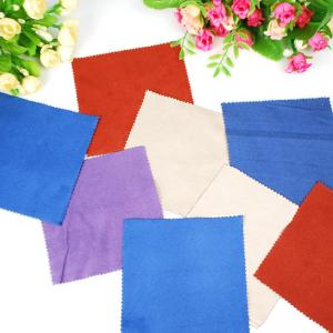 China Light Weight Reusable Square Eye Glass Cleaning Cloth With Pantone Colour on sale