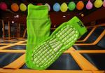 Latest jump fitness non slip socks mega trampoline fun zone bounce socks elevate trampoline park socks