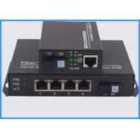 4 Ports POE Fiber Optic Media Converter , Ethernet To Optical Media Converter