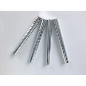 Quality Nail Varnish Storage Empty Twist Pen 2ml Silver Aluminum With Brush Tip for sale