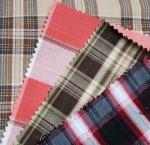 Yarn dyed cotton flannel stripe and check fabric for shirting