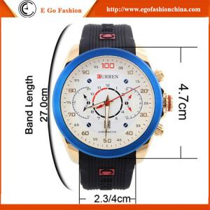 China 8166 Curren Watch China Watches Rubber Band Silicone Watch Sports Watch Casual Watch Man on sale