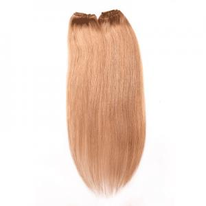 China Brown Color 1B Indian Remy Human Hair Clip In Extensions No Synthetic Hair on sale