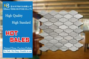 China Wooden Lantern Wall And Floor Marble Mosaic Tiles Fashion Decorative Materials on sale