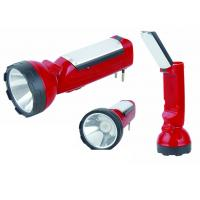 50Hz / 60Hz LED Long Range Rechargeable Torch With LED Night Light Red Color