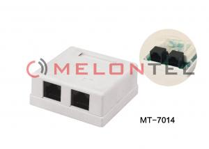 China Dual Port  Jack RJ45 Wall Outlet Surface Mount Box With UTP / STP Type on sale