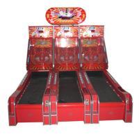 Children size bowling game 3 lines kids fun indoor playground redemption game machine