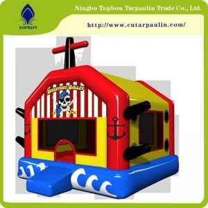 China hot sell  waterproof polyester pvc tarpaulin laminated for inflatable castles Tb004 supplier