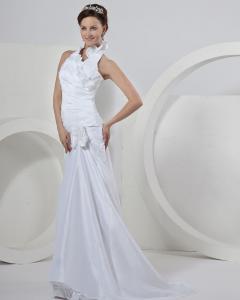 China Chic Sleeveless around the neck Gauze Wedding Dresses with court train , ivory on sale