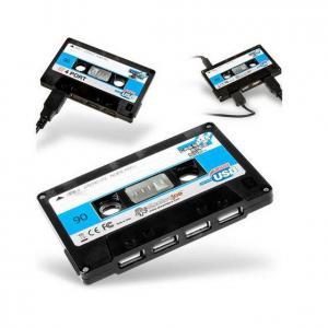 China Cassette Tape 4 Port USB 2.0 Hub on sale