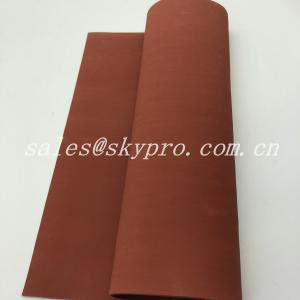 China Red Soft Customized Neoprene Rubber Sheet Silicone Rubber Foam Sponge on sale