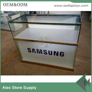 China SAMSUNG mobile phone showcase glass display counter display showcase on sale