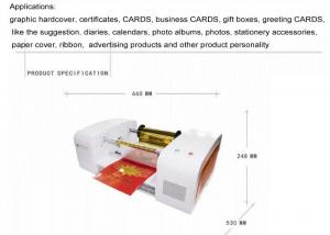 China Table Top Plateless Digital Hot Foil Stamping Machine Network Interface 800x400x350mm on sale