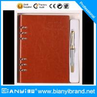 China 2015 high-end custom logo pen and diary gift set with packing gift box on sale