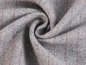 China 50% Wool 40% Polyester One Sided 1.2cm Stripe Melton Fabric For Women'S Jacket on sale