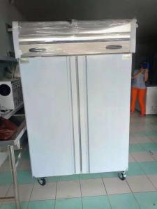 China Fan Cooling Commercial Upright Freezer Vegetable Cold Chiller With Wheel on sale