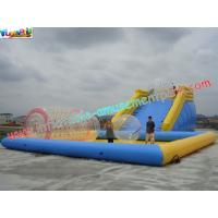 Custom 0.9MM PVC tarpaulin Inflatable above ground pool slides for water toys
