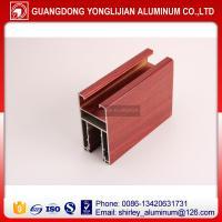 Aluminium window extrusion profile wooden color,aluminum profile supplier
