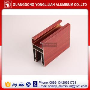 China Aluminium window extrusion profile wooden color,aluminum profile supplier supplier