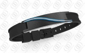 China Mysterious Blue Swarovski Lady Magnetic Bracelets In Two Tones on sale