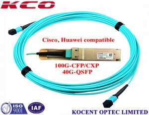 China MPO MPO 40G 1m 2m 3m OM3 Fiber Optic Patch Cord For QSFP+-40G-SR4 Cisco Huawei Compatible on sale