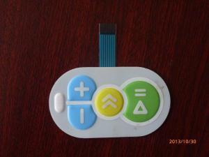 China Waterproof Membrane Switch Keyboard 0.05mm - 1.0mm , 3M467 / 3M468 Adhesive on sale