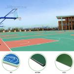 Anti - Slip Silicon PU Outdoor Sports Field / Badminton Court Flooring Material