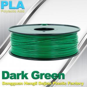 China OEM Biodegradable PLA  1.75 / 3.0 mm 3D Printer Filaments ( Dark Green ) on sale