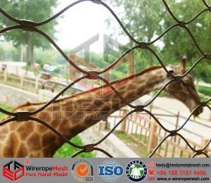 China Maille animale, maille de zoo, la maille flexible de corde d'acier inoxydable, barrière de maille de léopard on sale