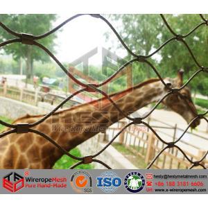 China Животная сетка, сетка зоопарка, гибкая сетка веревочки нержавеющей стали, загородка сетки леопарда on sale
