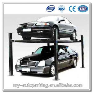 China 3700kg Cheap 4 Post Car Lift for Sale Parking Lift Portable Car Parking System on sale
