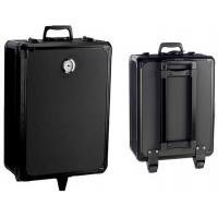 Black 2 Wheel Trolley Portable Aluminum Tool Box Traveling Suitcase580×400×180 mm
