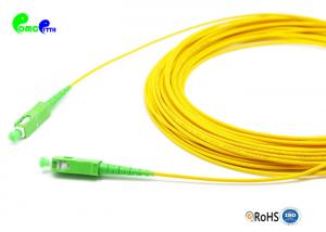 China 2.0mm G657A Simplex Fiber SC APC to SC APC Optical Patch Cord LSZH With Yellow Color on sale