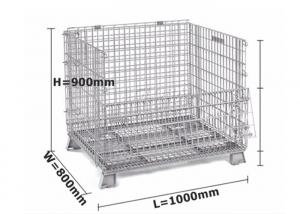 China Zinc / Chrome Plated Mesh Storage Cage Durable L1000 * W 800 * H 900 Mm on sale