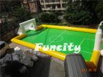 Sealed Inflatable Football Games Inflatable Football Pitch Logo Printed