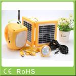 Luz del panel llevada accionada solar recargable de alta calidad de 4500mah que acampa 6V