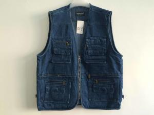 China Jeans vest, denim vest, in 100% cotton, S-3XL, denim blue, navy on sale
