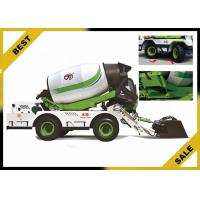 4 m³  Mobile Cement Mixer Trucks Automatic Lubrication System Double Helix Blade