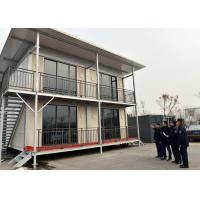 Steel Structure Frame Container House Prefab With Toilet Kitchen  Customized