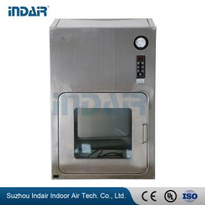 China Two - Door Stainless Steel Pass Box , Air Shower Pass Box With Power Indicator Light on sale