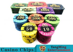 China Acrylic Casino Style Poker Chips Tough And Durable With ABS New Material on sale