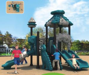 China small size outdoor plastic slide professional playground equipment for kids on sale