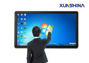 China University 84 Inch Interactive Touch Screen Totem With Ultra High Resolution on sale