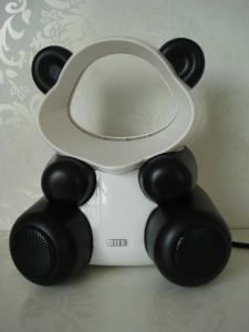 "China Fashion design panda USB bladeless Electric speaker fan without leaf 6"" 5V 2W on sale"