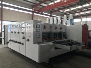 China lead edge feeder flexo printing slotting die cutting with stacker machine,flexo printing machine,printing press on sale