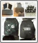 Las placas balísticas utilizan los materiales tal como las placas a prueba de balas del carburo del boro/de silicio