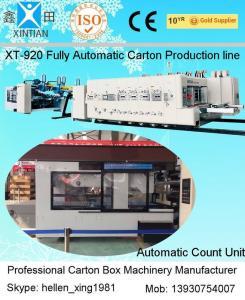 Quality Fully Automatic Inline Flexo Carton Box Printer Slotter Die Cutter with Folder Gluer Bundler for sale