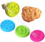 FDA Gift Box,Eat Me,Diamond Design Food Grade Silicone Cookie Stamp Set With Wooden Handle