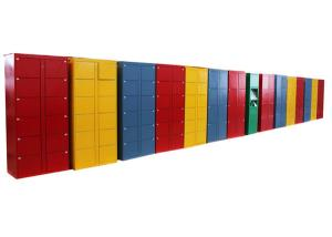 China Smart Public Rental Airport Left Luggage Lockers ,  Card / Cash Payment System Market Metal Lockers on sale
