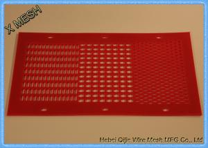 China Red Color Mining Screen Mesh PU Material Low Noise Non - Pegging Flexible on sale